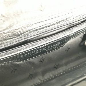 Kenneth Cole Bags - Kenneth Cole hard black snake long clutch